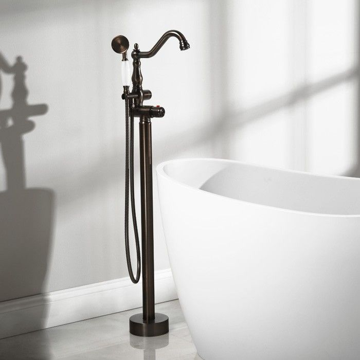 Keswick Freestanding Thermostatic Tub Faucet and Hand Shower ...