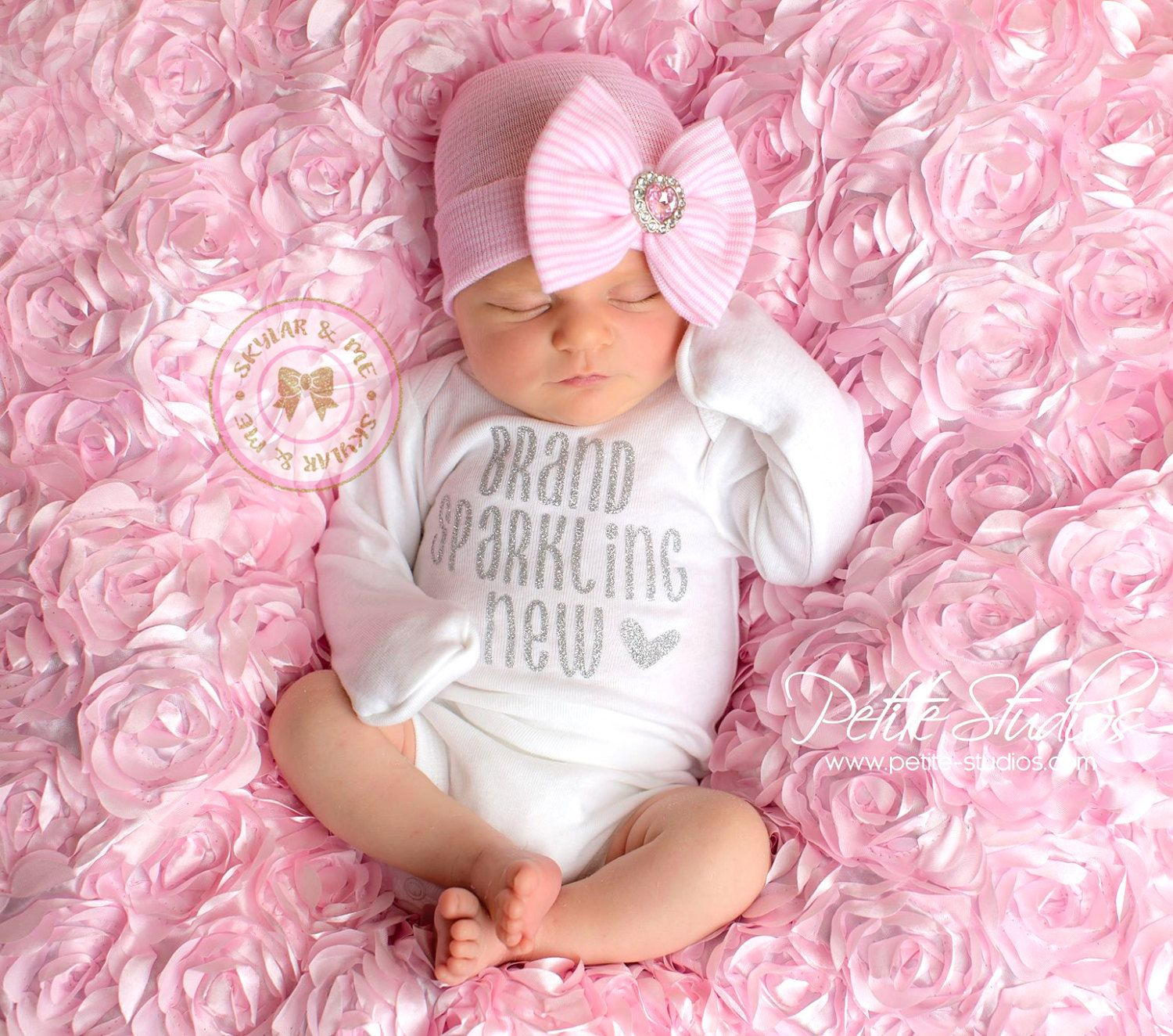 34390044c63a BABY GIRL coming home outfit, baby girl, newborn girl, going home outfit, coming  home baby girl, baby girl headband, newborn headband girl *´¯`•.¸.•*´¯`•.¸.