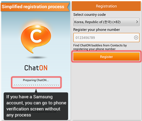 *Simplified registration process If you have a Samsung