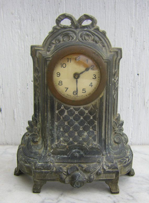 Late 1800s Antique French Mantel Clock Amazing By