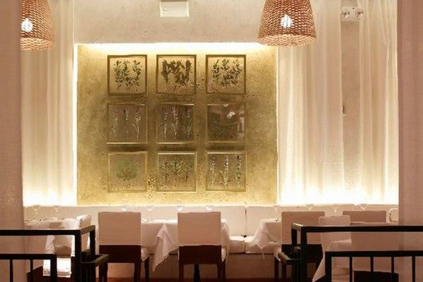 Modern Restaurant Wall Interior Decoration Fig Olive New York ...
