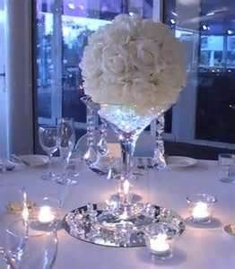 Wedding Story Rose Ball Table Centrepiece With Diamante Centre Detail