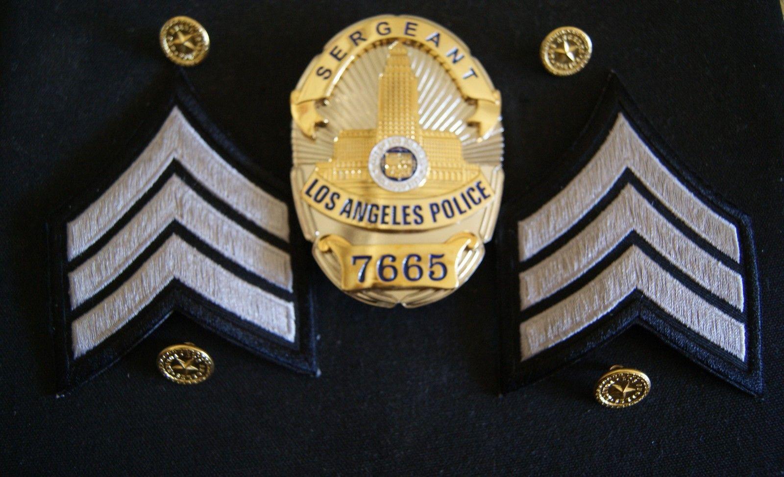 Los Angeles Police Badge Sergeant Presentation Badge Bellingham Carrington Police Badge Badge Police