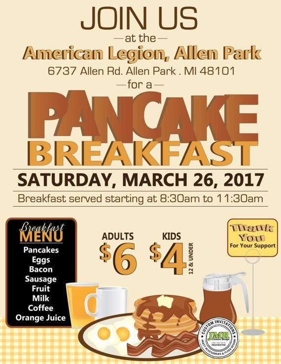 pancake breakfast benefit flyer fundraiser flyer event flyer