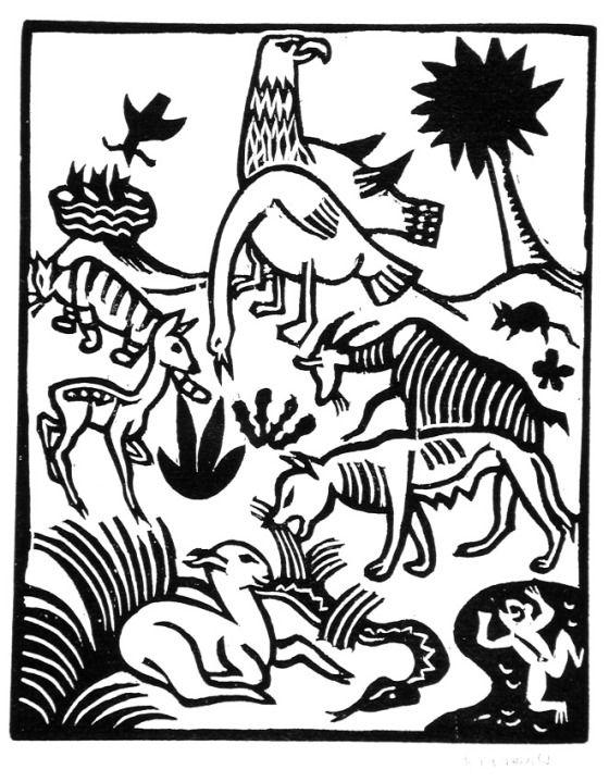 Richard Seewald, woodcut