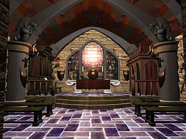 Fantasy castle interior gothic medieval palace 3ds 3d for Castle architecture design