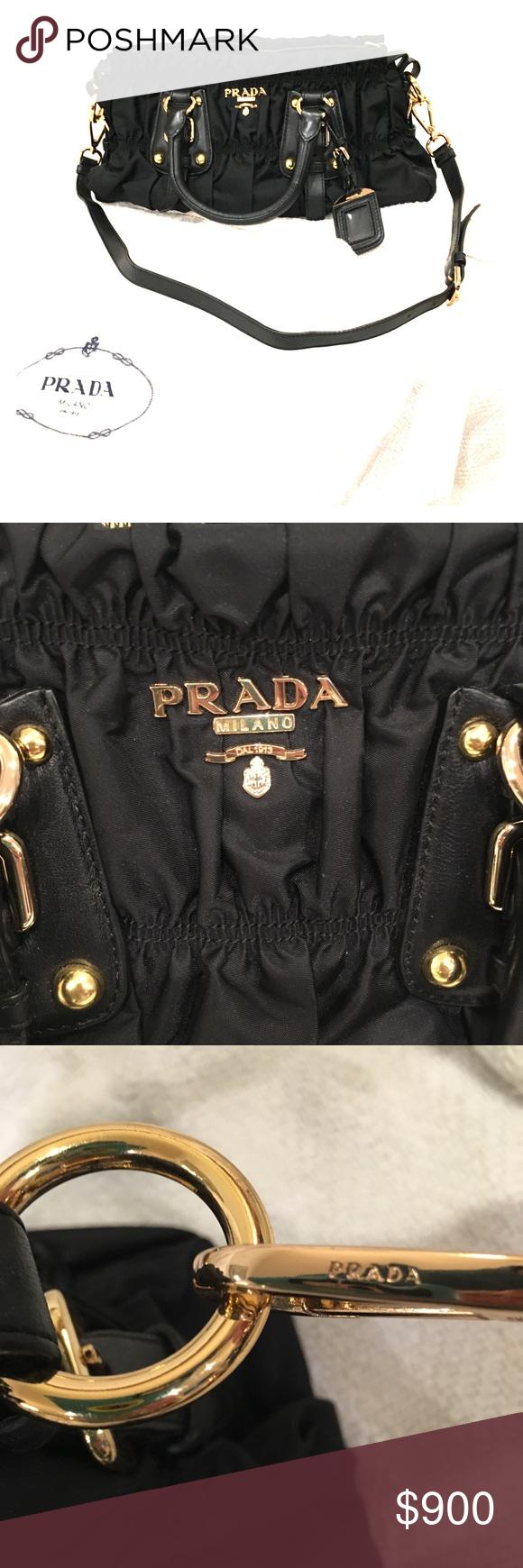 a7ba643a0ea9 ... purchase authentic prada tessuto gaufre bag authentic prada womens  shoulder tote bag tessuto gaufre nero.