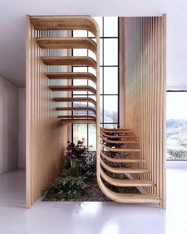 Moderne offene Holz Stiege Zeitgenössische architektur