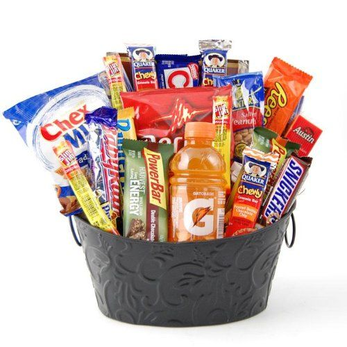High energy snack food gift basket great care package