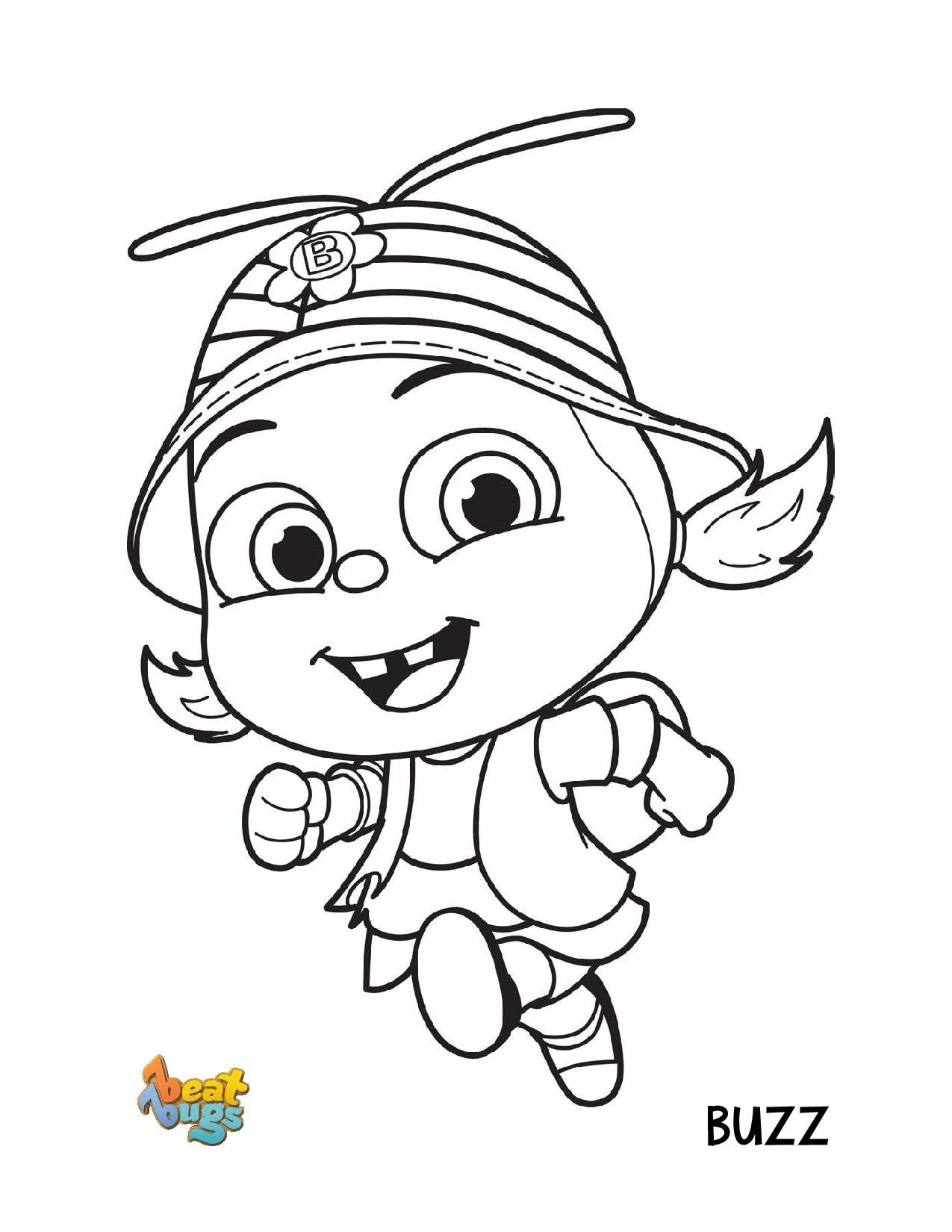 Buzz from Beat Bugs Printable for