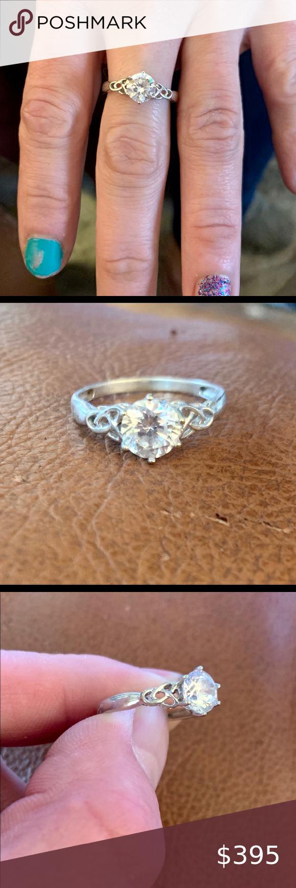 MASSIVE 14kt Moissanite 2ctw+ Gold Engagement Ring in 2020 ...