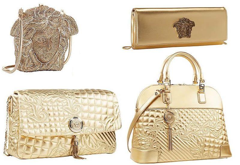 7572d55bbf2e Versace s New Golden Handbag Collection