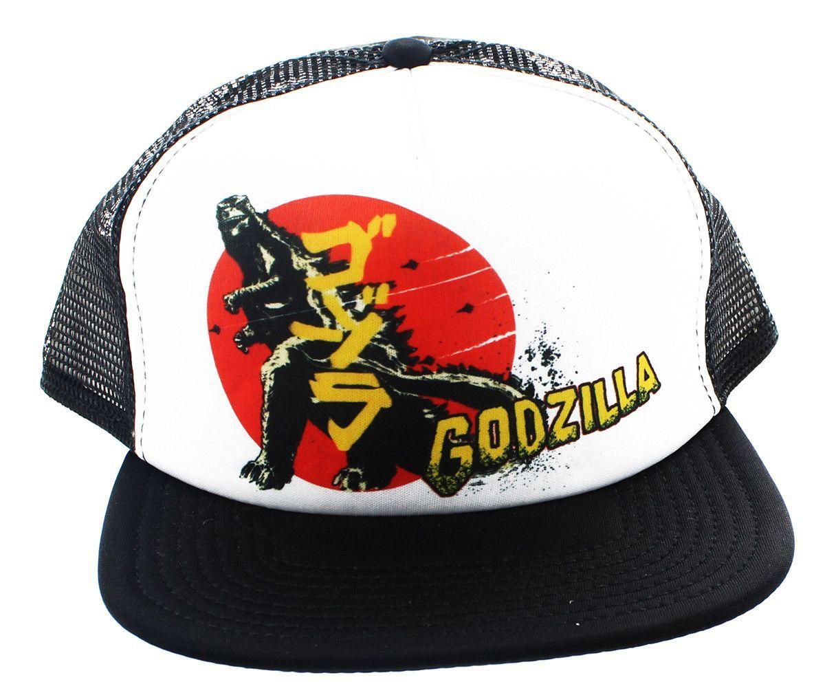 81830027c Godzilla Sub Print Trucker Cap | Hats | Godzilla, Cap, Baseball cap
