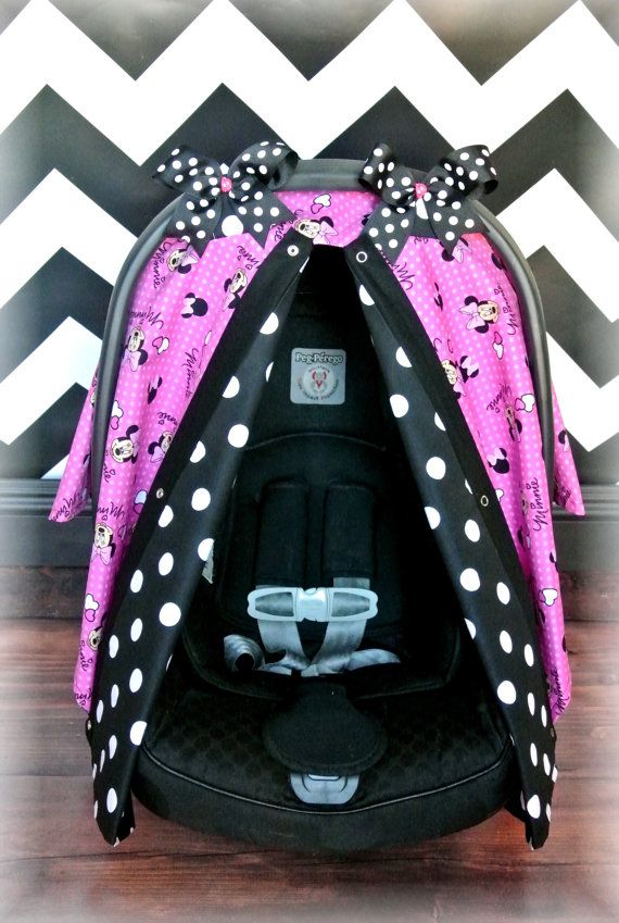 MINNIE MOUSE carseat canopy car seat cover by JaydenandOlivia & MINNIE MOUSE carseat canopy car seat cover by JaydenandOlivia ...