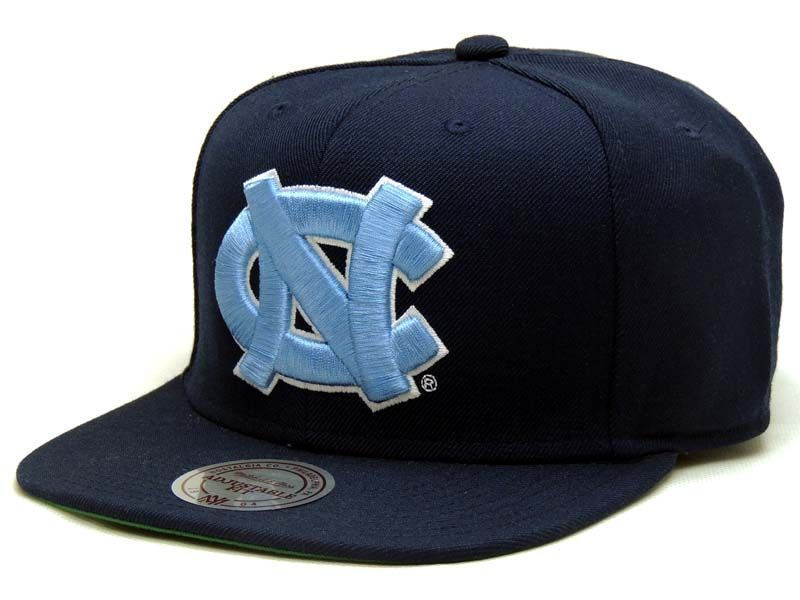 Boné Mitchell & Ness Snapback NCAA North Carolina Azul Marinho - Boné Mania