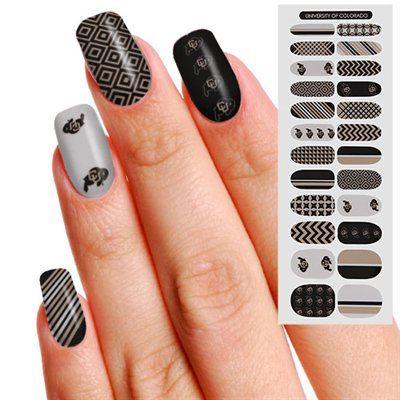 Colorado Buffaloes Womens 24-Pack Fingernail Appliques | Shopping ...