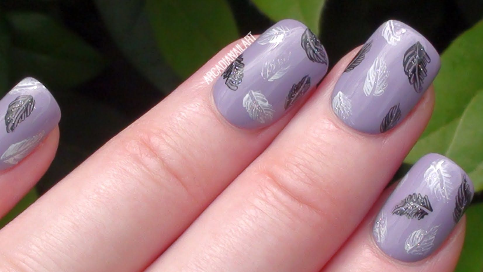 Super Easy Feathers With A Toothpick Easy Nail Art For Beginners