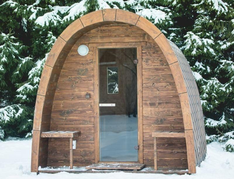 sauna igloo en m l ze de sib rie couverture shingle l 250 cm h 244 cm l 244 cm po le. Black Bedroom Furniture Sets. Home Design Ideas