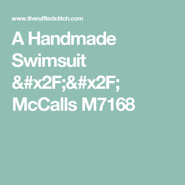 A Handmade Swimsuit // McCalls M7168