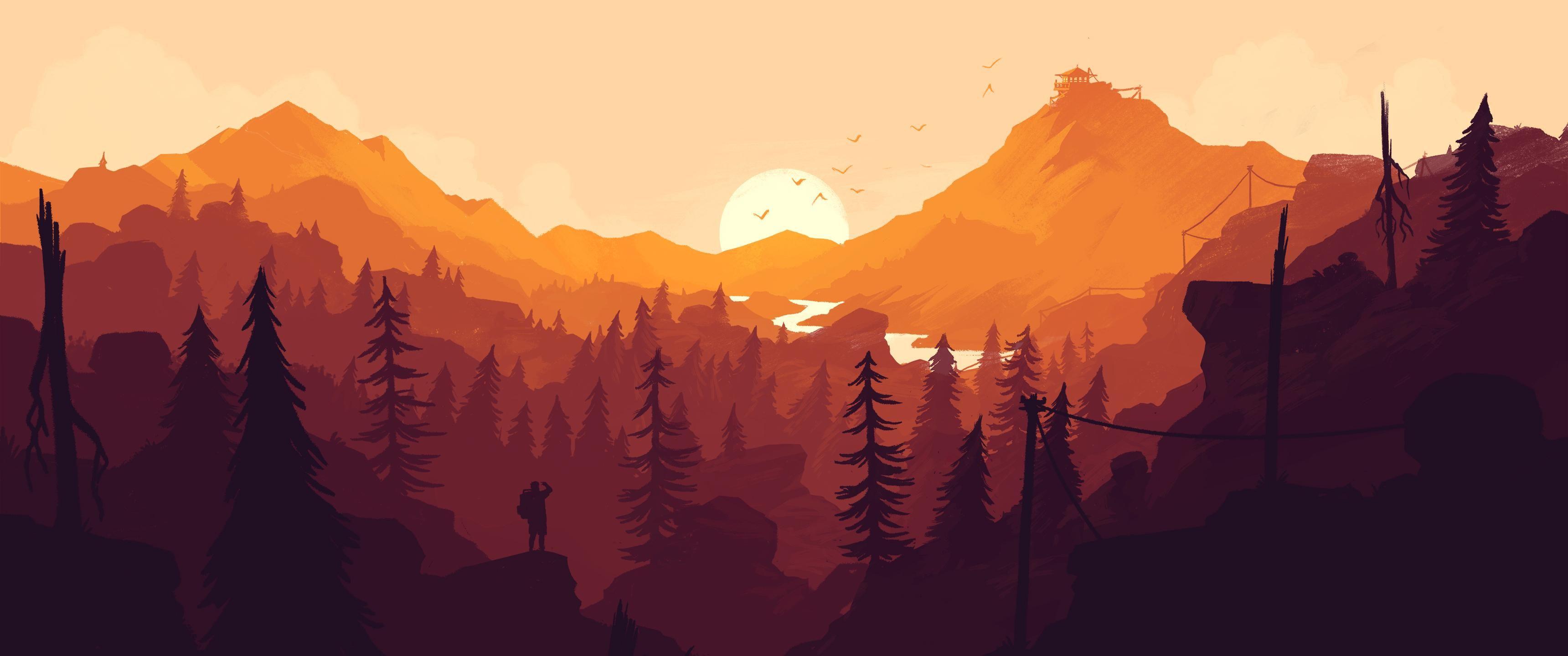 Yet Another Firewatch Wallpaper Landscape wallpaper