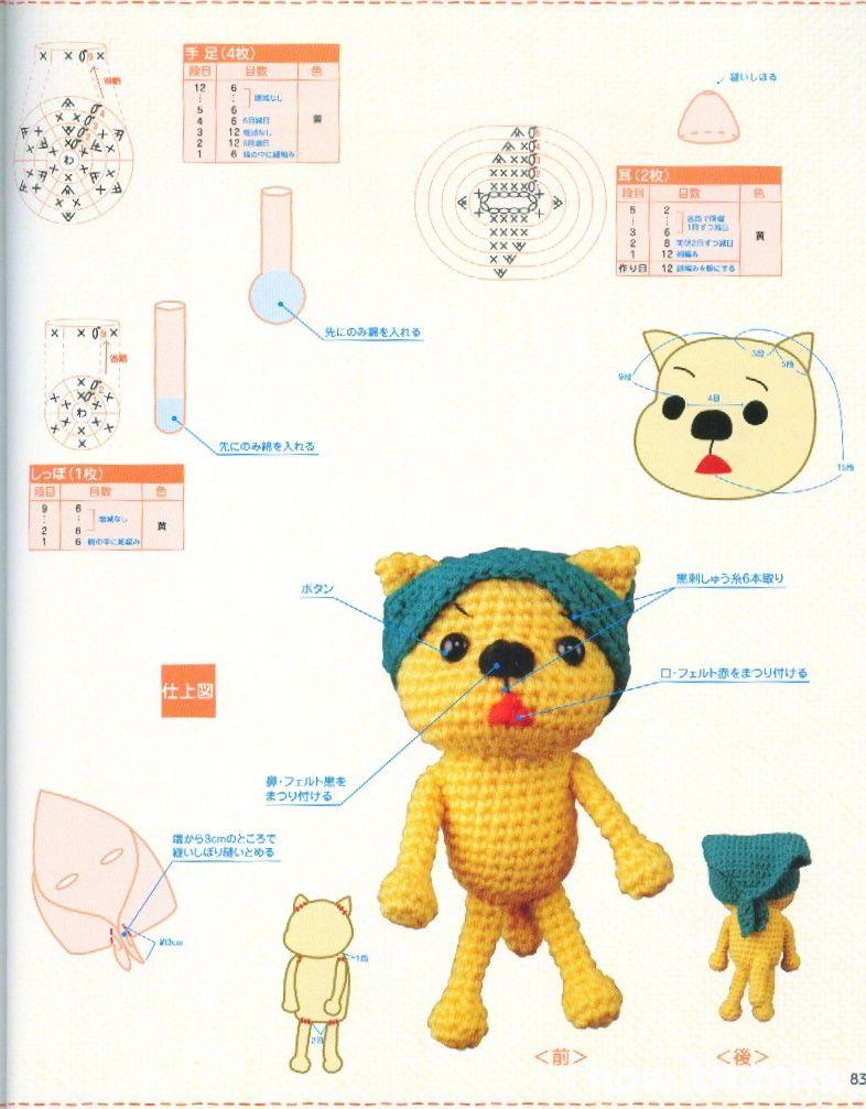 gato amigurumi | Crochet patrones gratis/free crochet pattern ...
