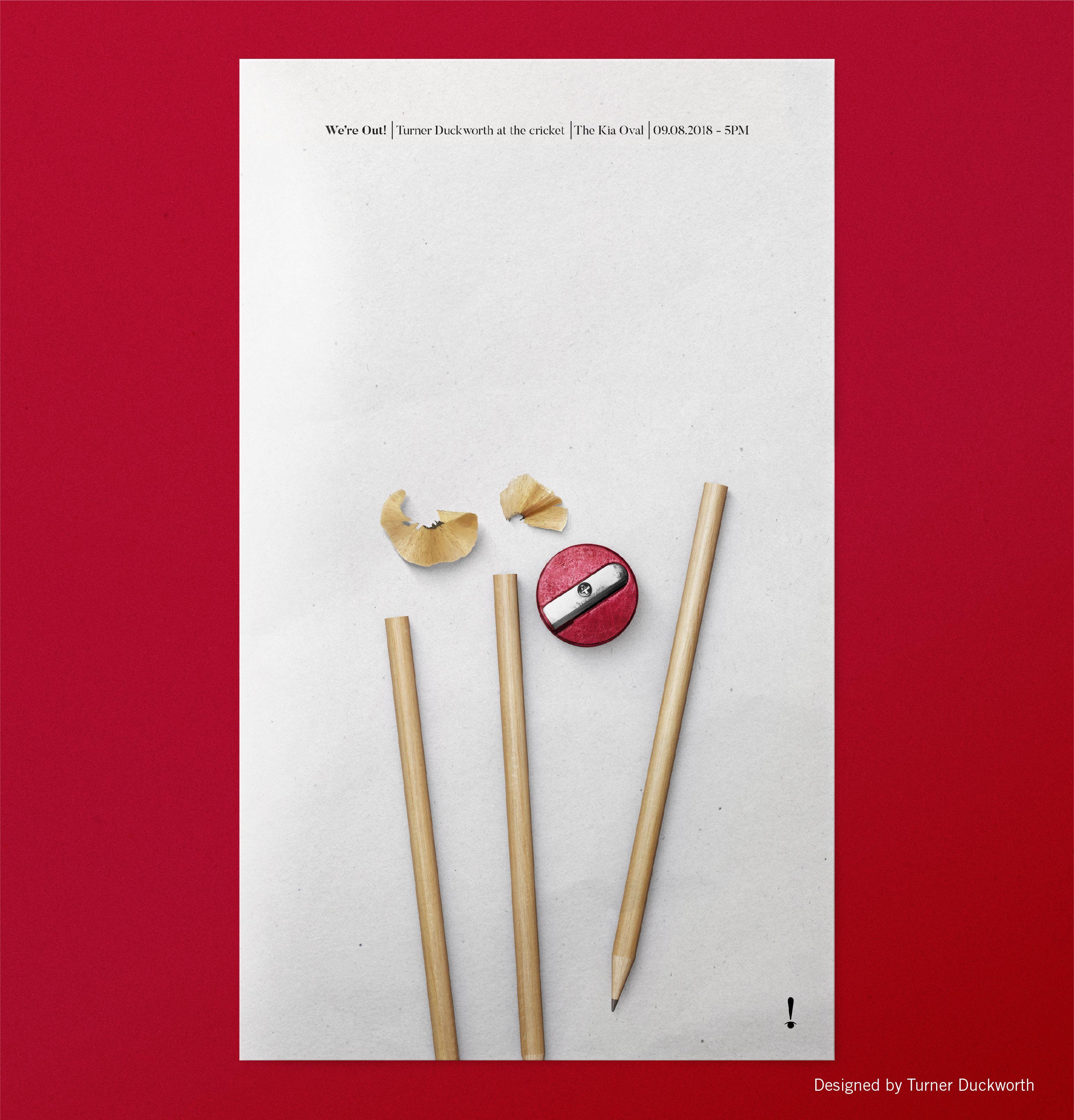 Turner Duckworth Cricket Poster In 2020 Cricket Poster Turner Design