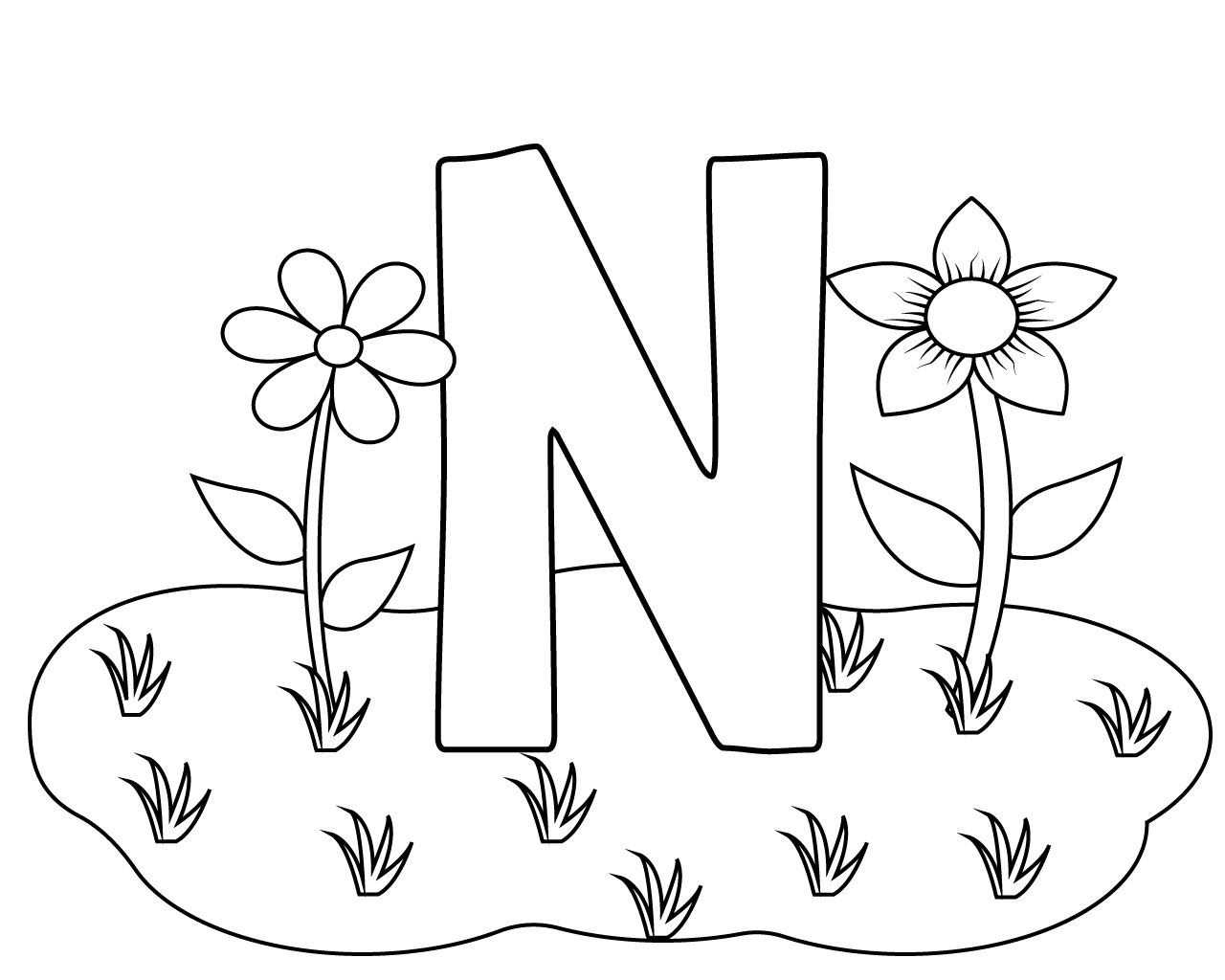 Printable Letter N Coloring Page For Your Loved Ones Free
