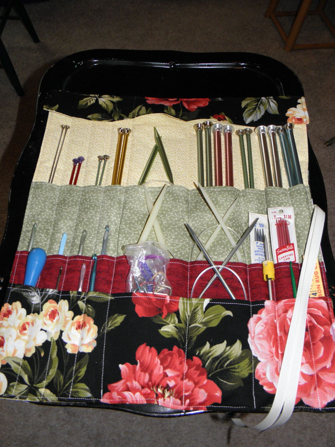 Knitting Needle Case, Crochet Needle Case, Knitting Needle Roll - 27 ...