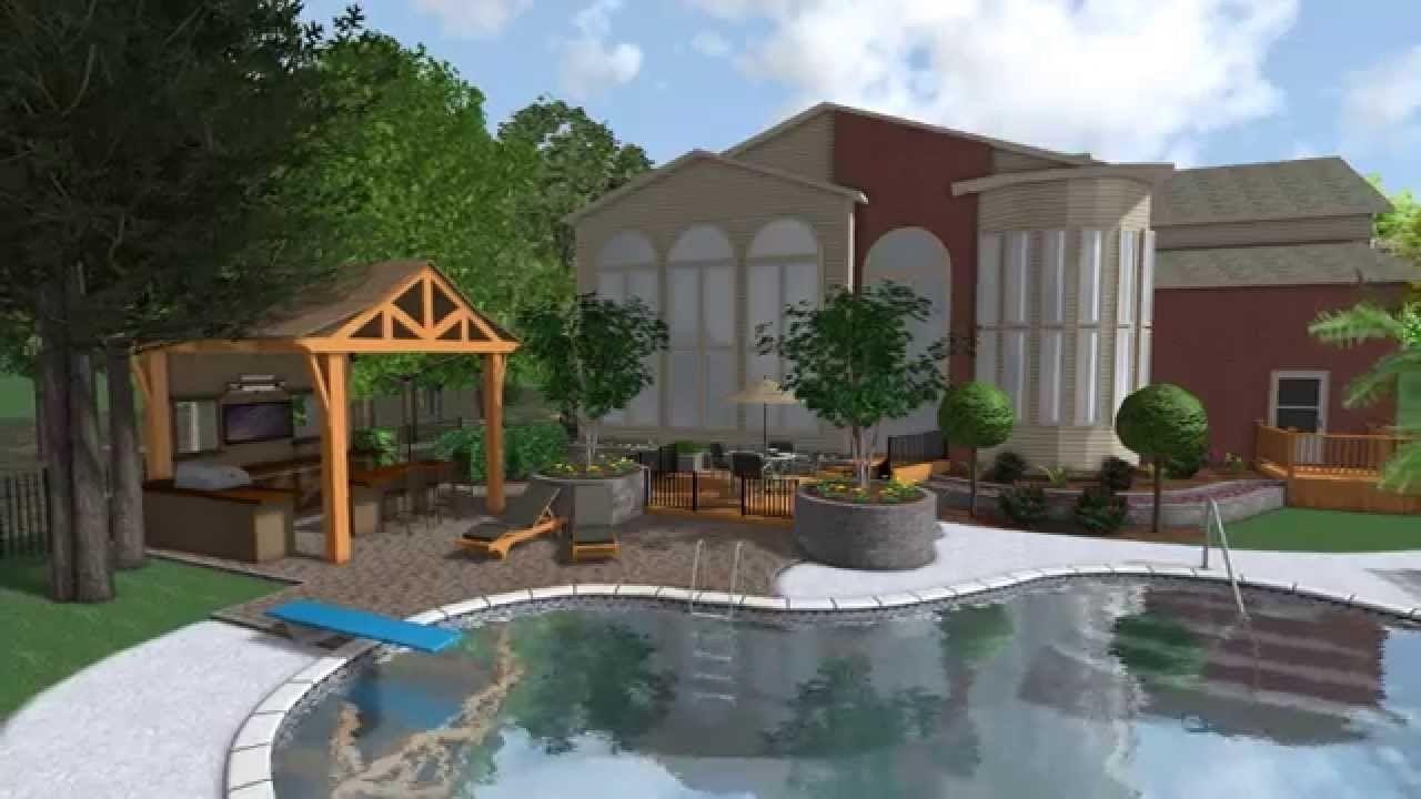 Landscape Design 3D Digital Walkthrough HD Outdoor