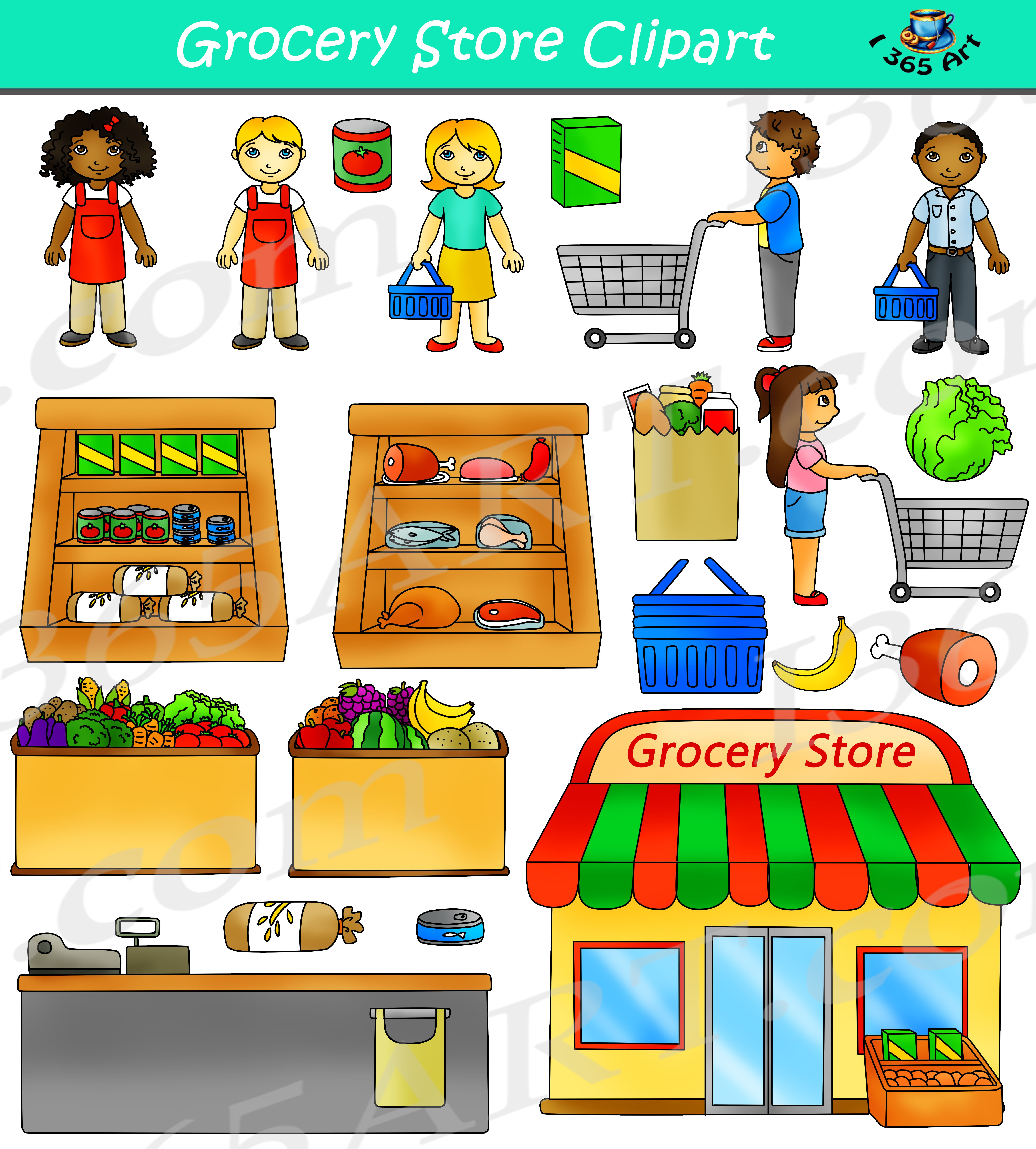 Grocery Store Clipart Commercial Clipart 4 School Shopping Clipart Clip Art Grocery Store