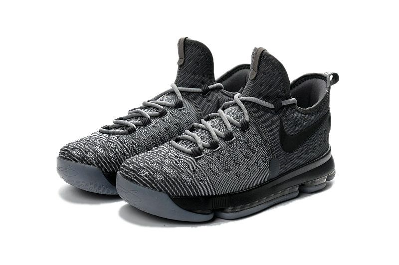 22a33075e31 Sale New Nike KD 9 IX Battle Grey Wolf Grey Kevin Durant Shoes 2017 ...