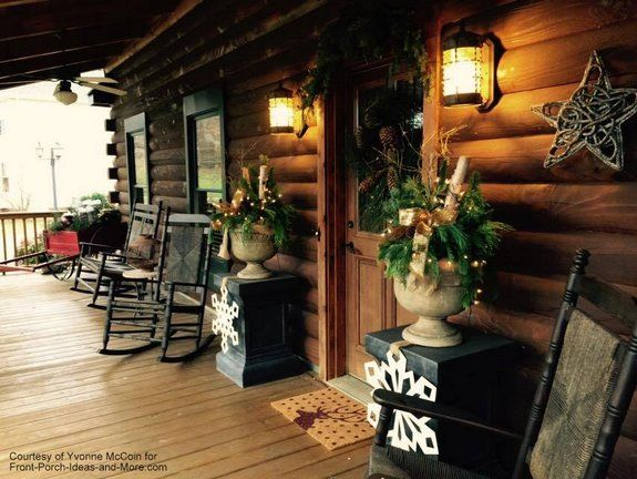 Outdoor Christmas Decorating Ideas For An Amazing Porch Outdoor Christmas Decorations Outdoor Christmas Cabin Porches