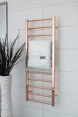 DC Short Cubo E Heated Towel Rail AUS Rose Gold Marble - Gold decorative towels for small bathroom ideas
