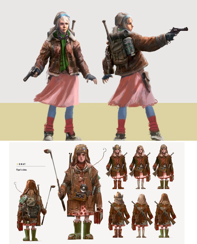 Original Character Concept For Piper S Sister Nat Fo4 Fallout Fan Art Character Concept Fallout Rpg