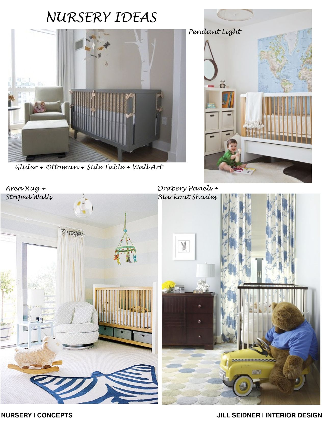 Covina Residence Online Design Nursery Project Concept Board Where