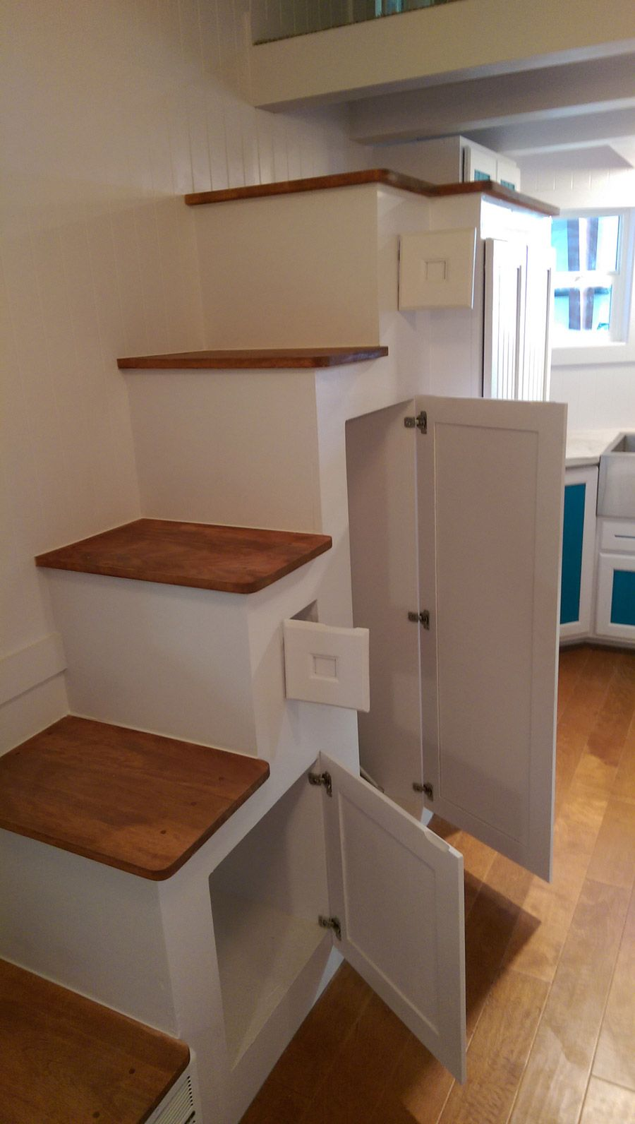 Lots Of Storage Under The Stairs.    Victorian Prepper Maximus . Stair  LadderA LadderTiny House ...