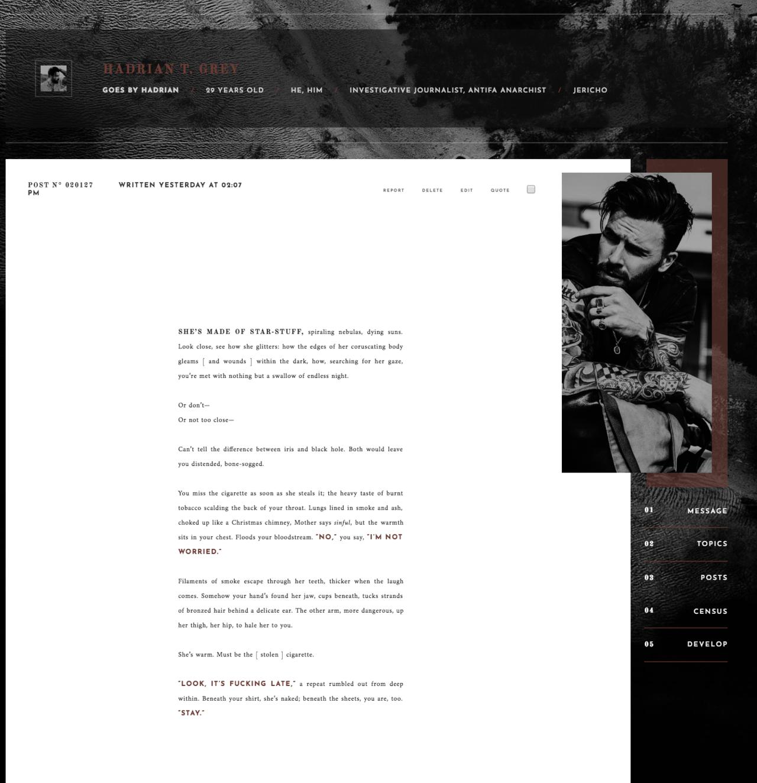 jcink skin | Tumblr | themes | Modal window, Tumblr, Icon font