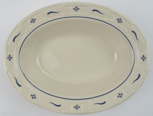 Longaberger-Pottery-China-Woven-Traditions-Classic-Blue-Oval- & Longaberger-Pottery-China-Woven-Traditions-Classic-Blue-Oval ...