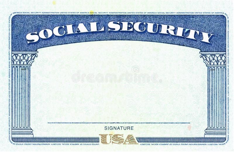 Social Security Card Blank Stock Image Image Of Emigration 159868247 Social Security Card Card Templates Free Credit Card Design