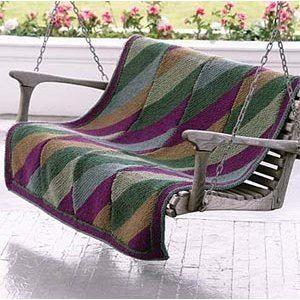 Chunky Diagonal Throw-Knit in Lion Brand Wool-Ease Chunky - 30038   Knitting Patterns   LoveKnitting