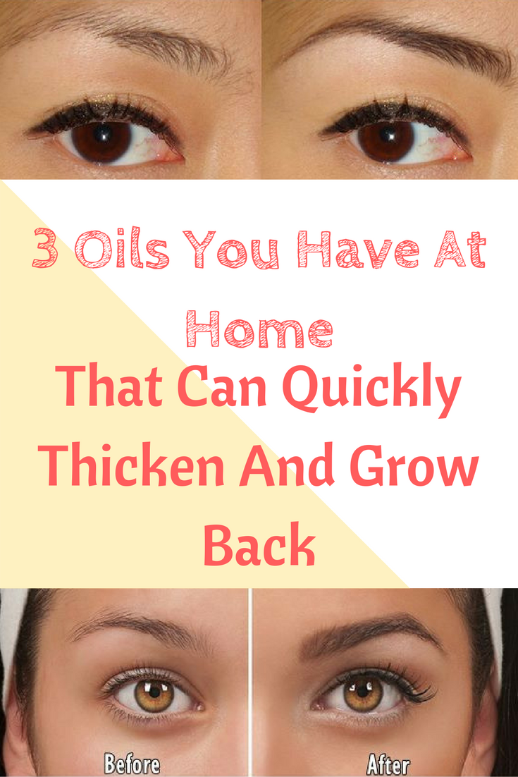 3 Oils You Have At Home That Can Quickly Thicken And Grow Back