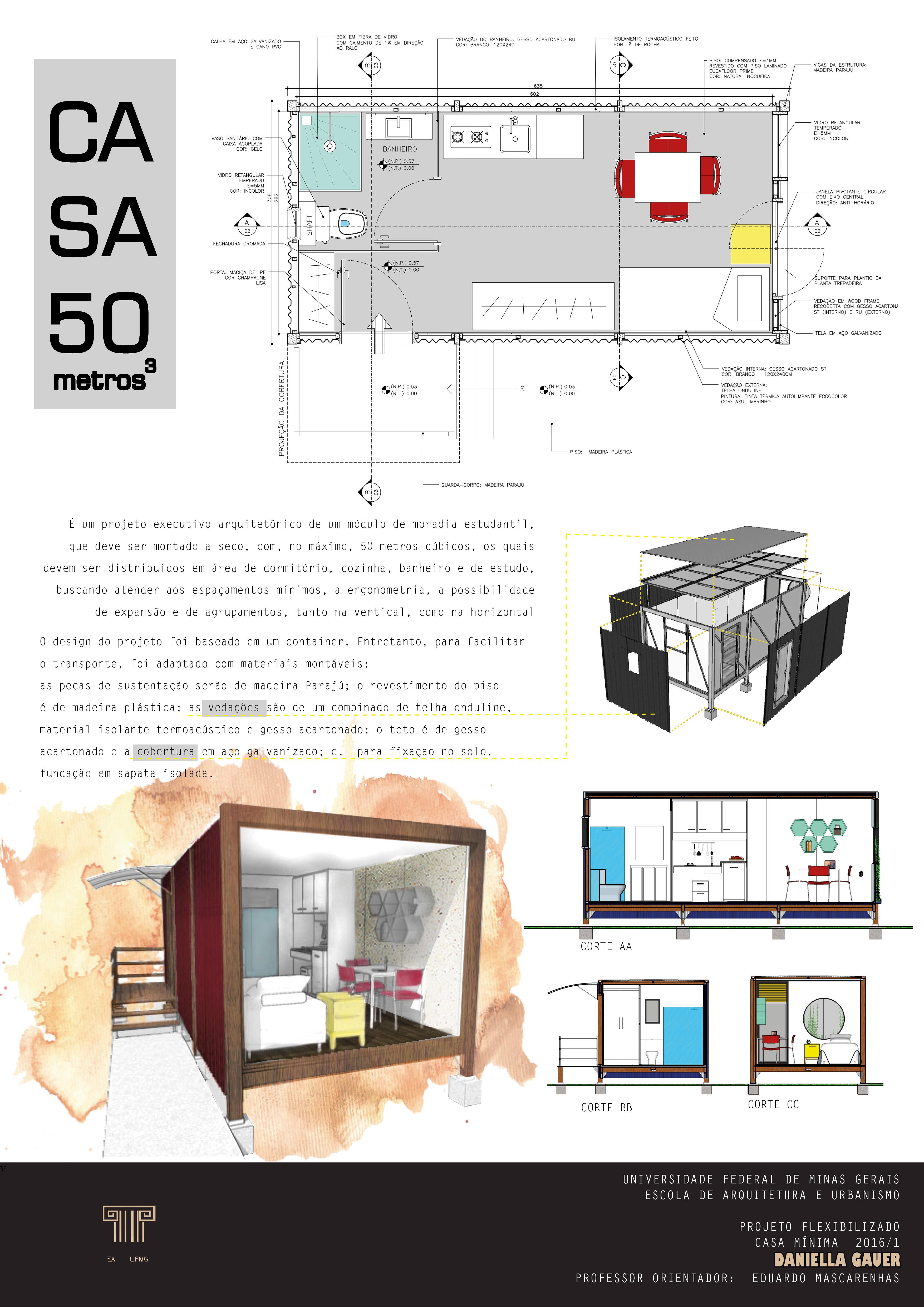 Prancha Resumo Casa 50m Autoria Daniella Gauer Softwares Adobe