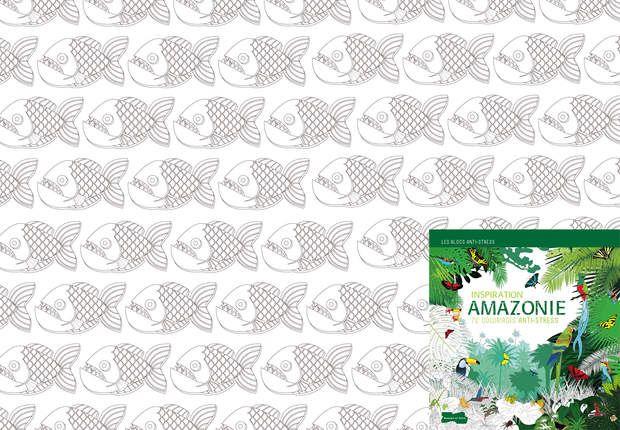 """Coloriage """"Inspiration Amazonie"""", Coloriage extrait de l'ouvrage Coloriage"""