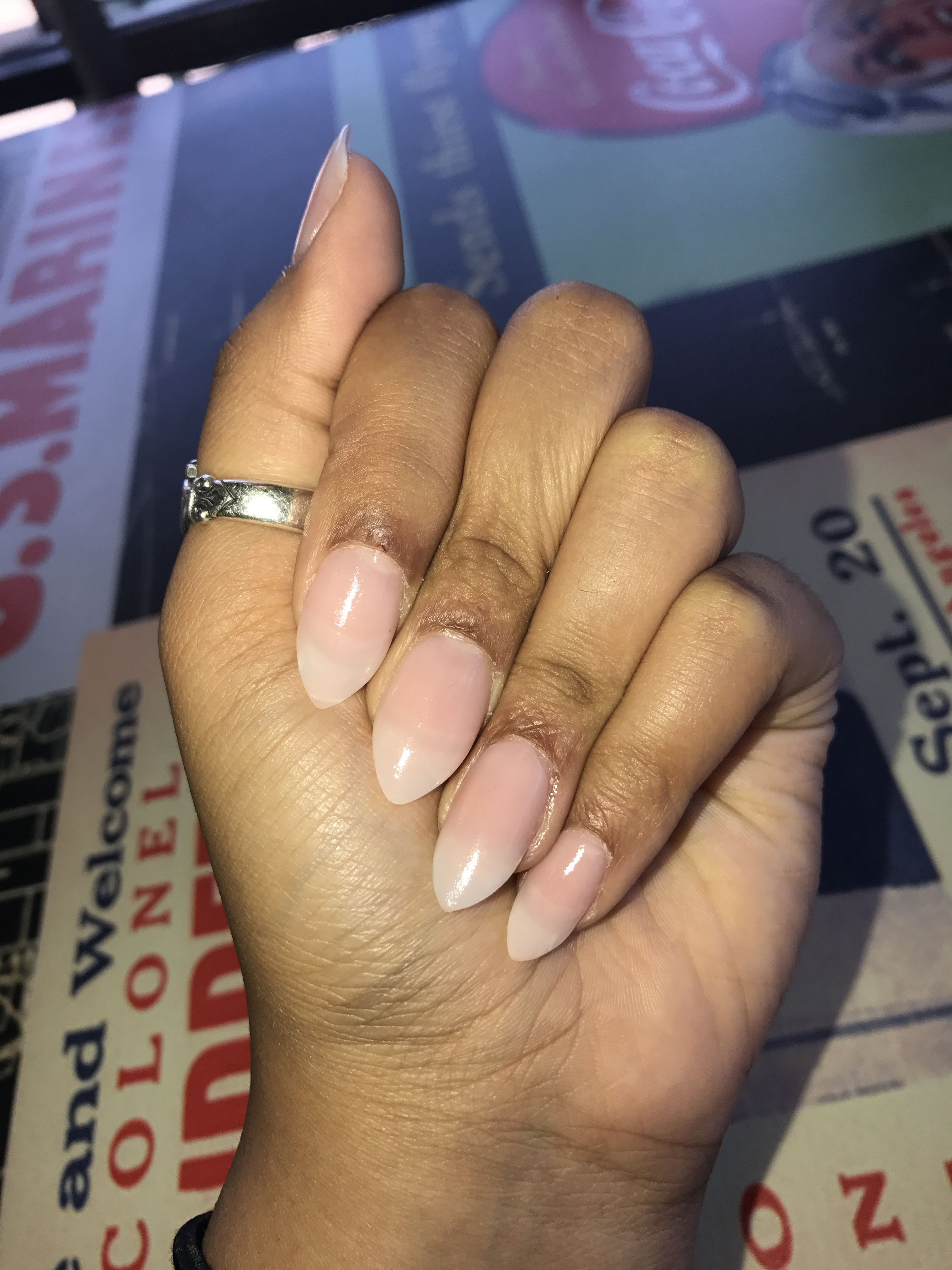 Neutral Almond nails   My Likes   Pinterest
