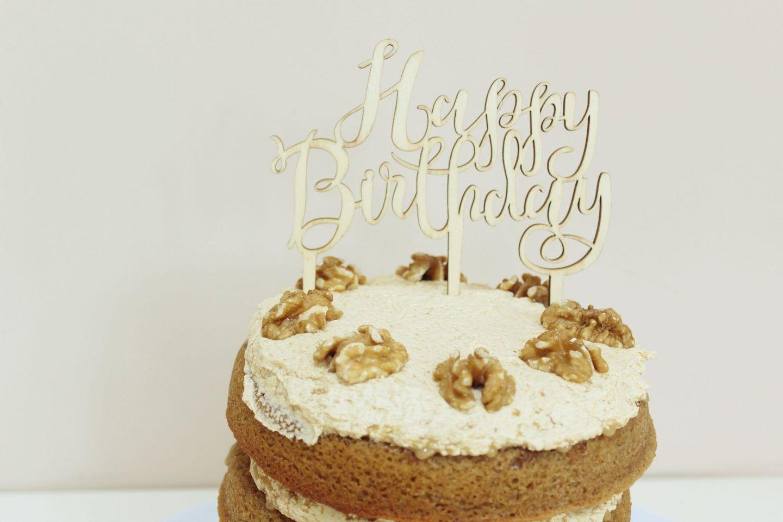 Recipe Coffee Walnut Birthday Cake Birthday Cakes Coffee And