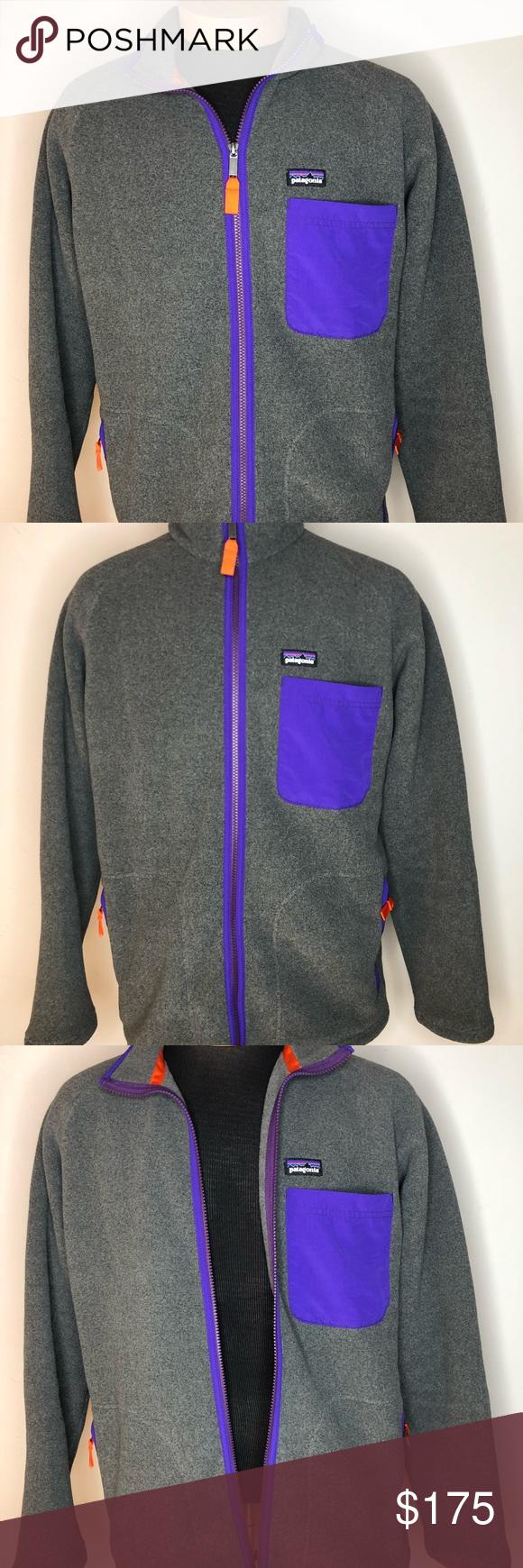 Patagonia jacket vtg s grey purple zip medium my posh closet