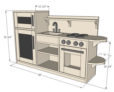 Ana White Build a One Piece Play Kitchen Free and Easy DIY