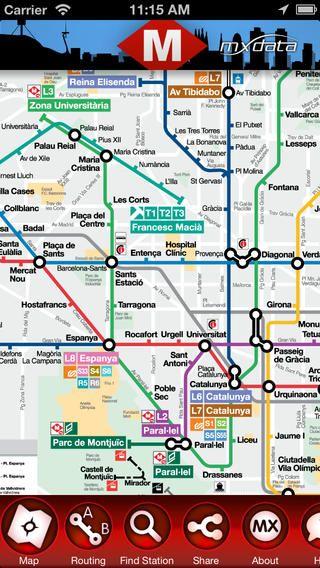 barcelona metro map app Metro map