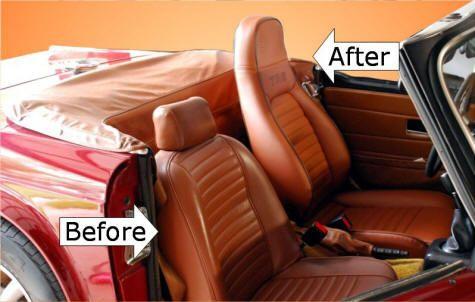 Miata To Triumph Mrmikes Interior Kit Miata Seats In A New Tan Tr6
