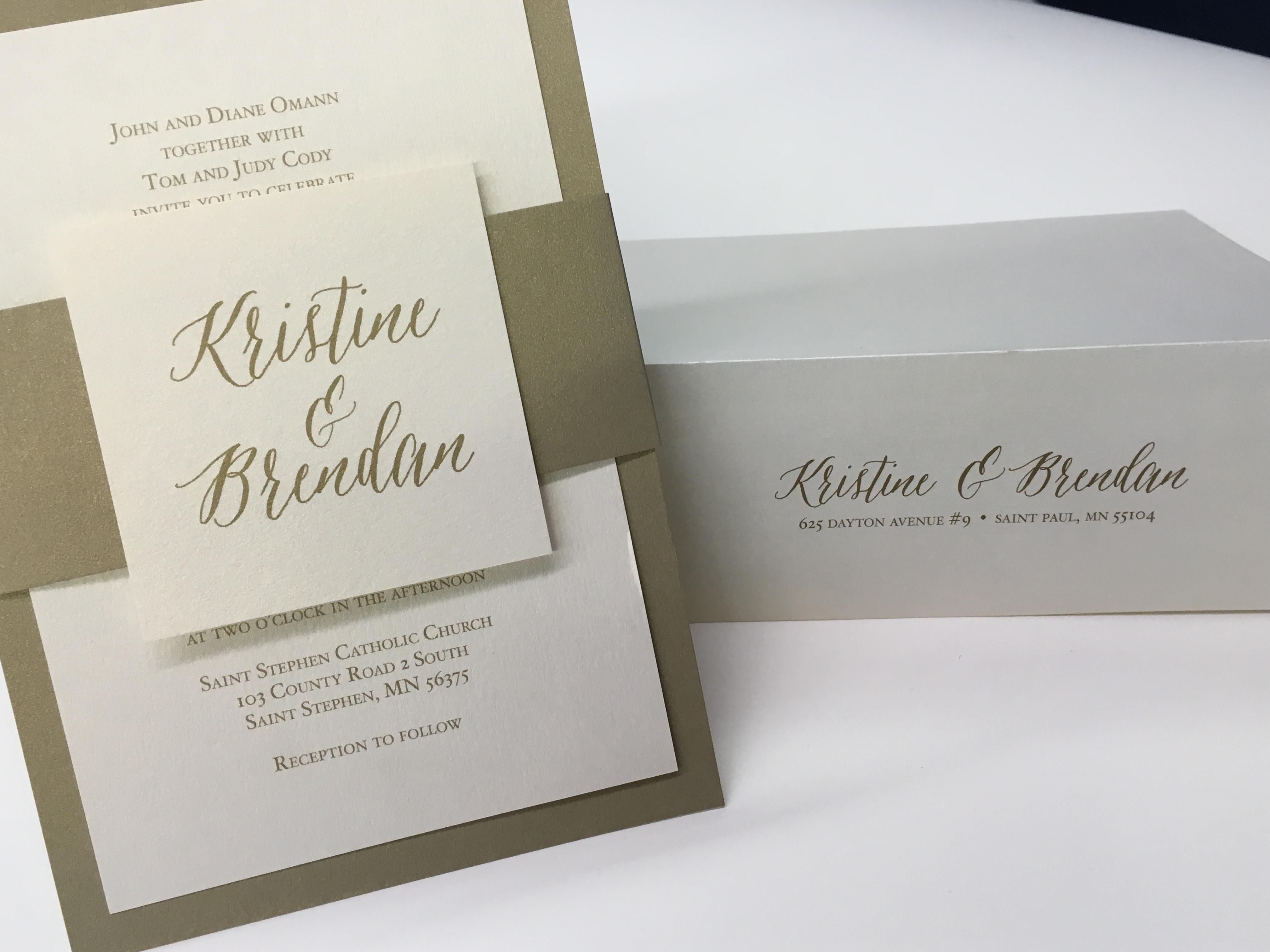 These custom wedding invites by Rengel Printing Company feature ...